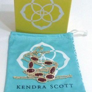 Kendra Scott Kelsie Necklace in Maroon & Gold